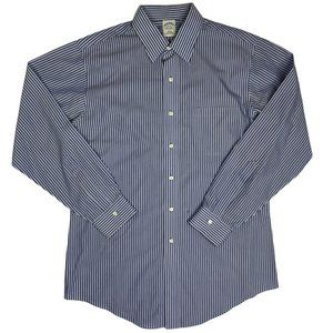 Brooks Brothers Dress Shirt Non Iron Striped Cotto